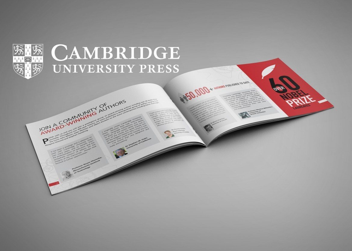 Cambridge University Press Brochure by Freshly Squeezed Design